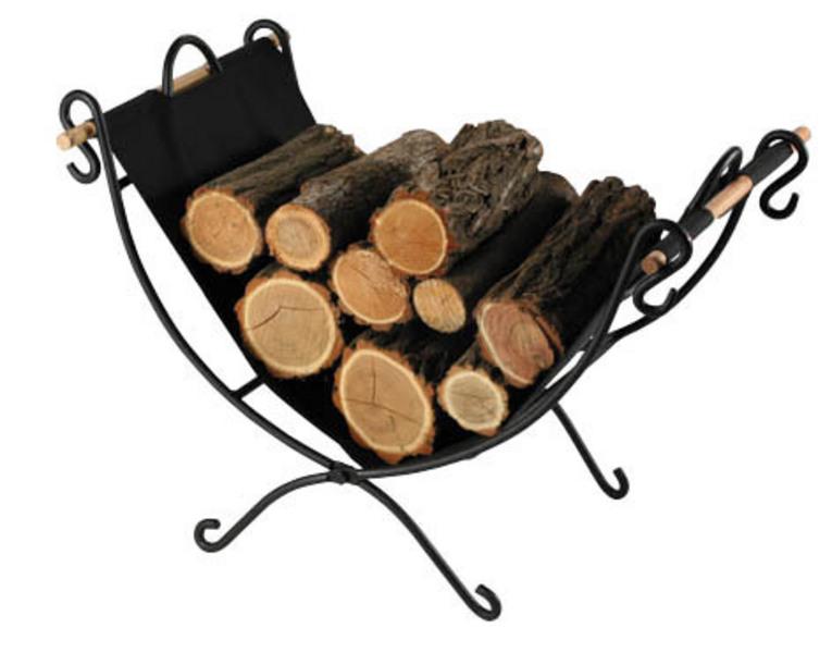 MULA - 6 nosič na dřevo - kov/látka skládací