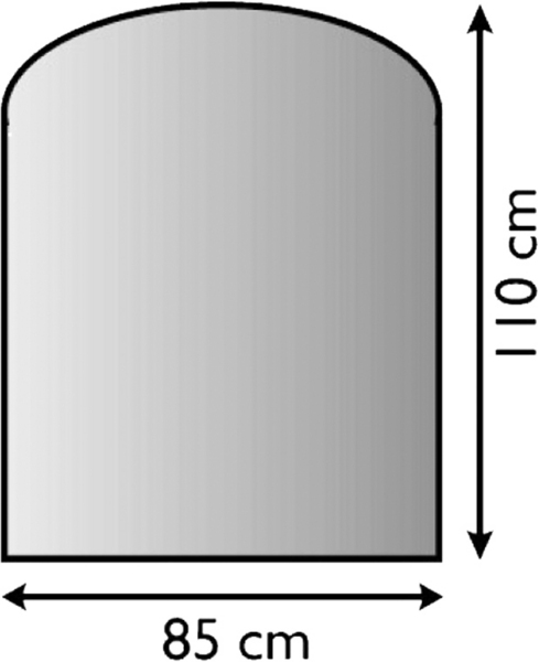 SKL - 15 sklo pod kamna 85x110 cm