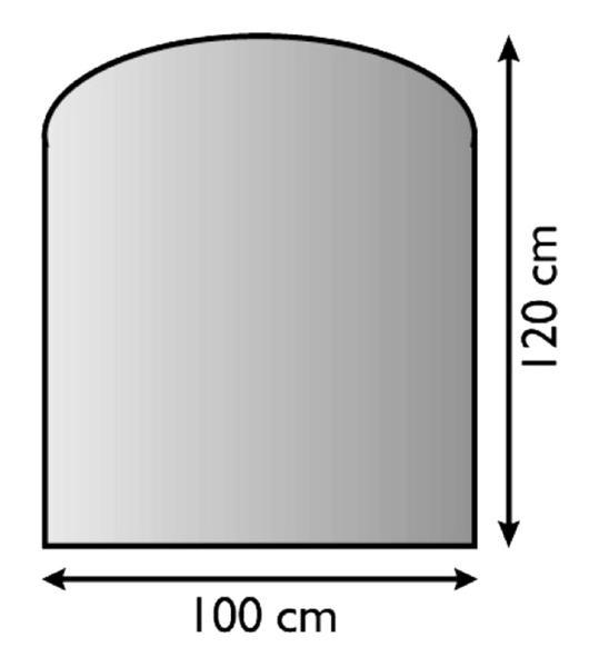 SKL - 8 sklo pod kamna 100x120 cm